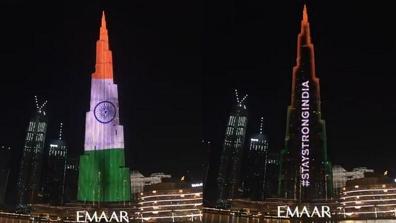 '#StayStrongIndia': UAE expresses support amid COVID-19 crisis by lighting up Burj Khalifa with tricolour