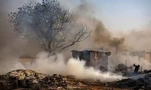 Major fire in Noida slum destroys 150 shanties; 2 children killed