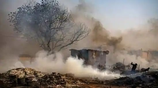 Major fire in Noida slum destroys 150 shanties; 2 children killed