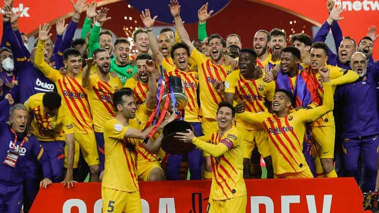 Messi nets 2, Barcelona beats Bilbao 4-0 to win Copa del Rey