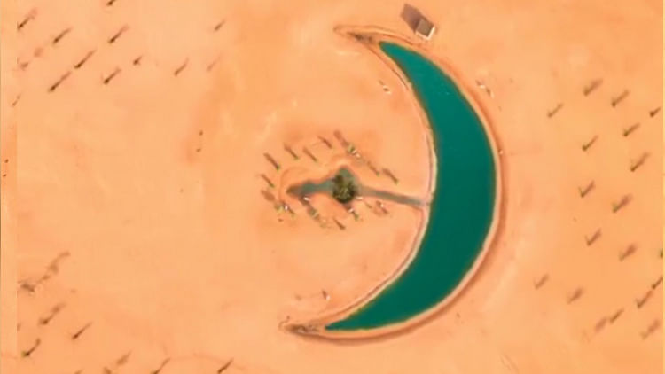 After Love Lake, now crescent-shaped lake appears in Dubai desert