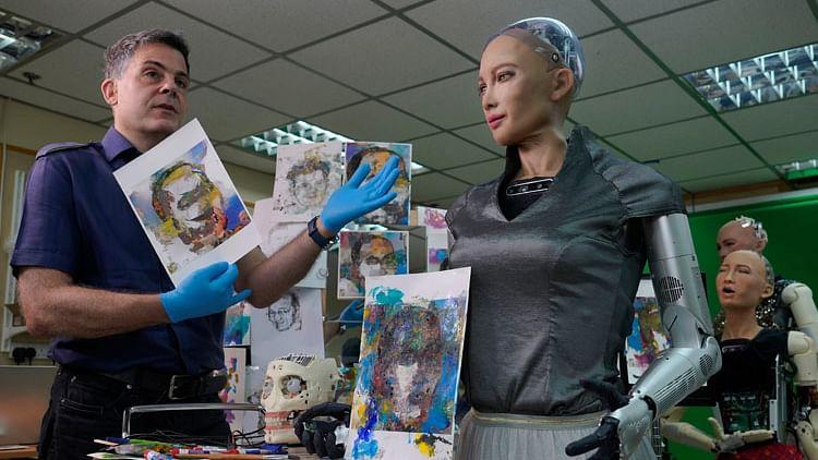 Robot artist Sophia sells art for $688,888, now eyeing music career
