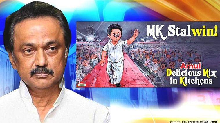 'She Didi it again', 'MK Stalwin', 'Triwondrum': Amul's topical congratulates Mamata Banerjee, MK Stalin and Pinarayi for winning elections