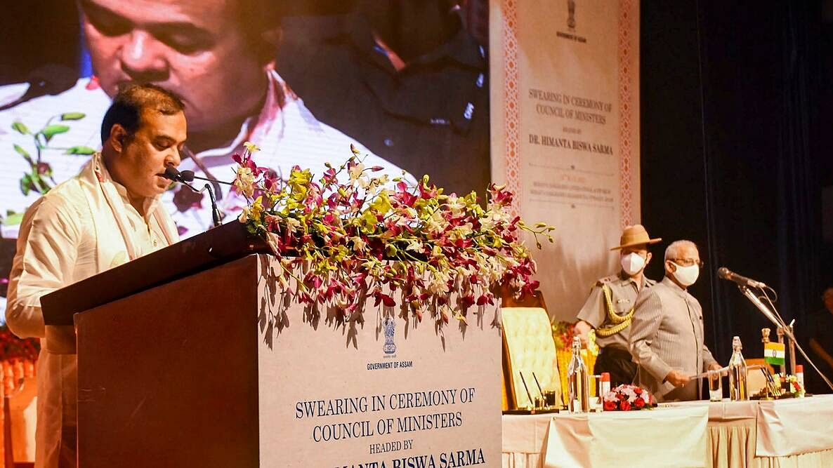 Himanta Biswa Sarma takes oath as Chief Minister of Assam