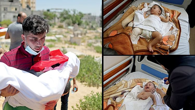 Palestinian man loses his entire family, in an instant: Miracle baby is sole survivor of Israeli airstrike that kills 10