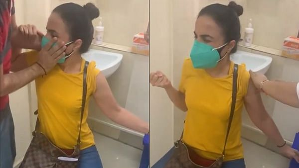 Watch: 'Mummy bol du?' Woman throws tantrum like a child while getting vaccinated, video goes viral
