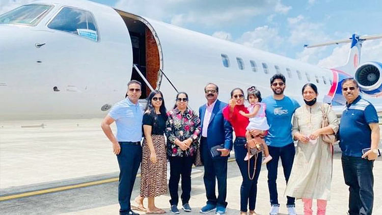 Indian businessman splurges $55,000 to fly newly-wed daughter, husband from Kerala to UAE in private jet