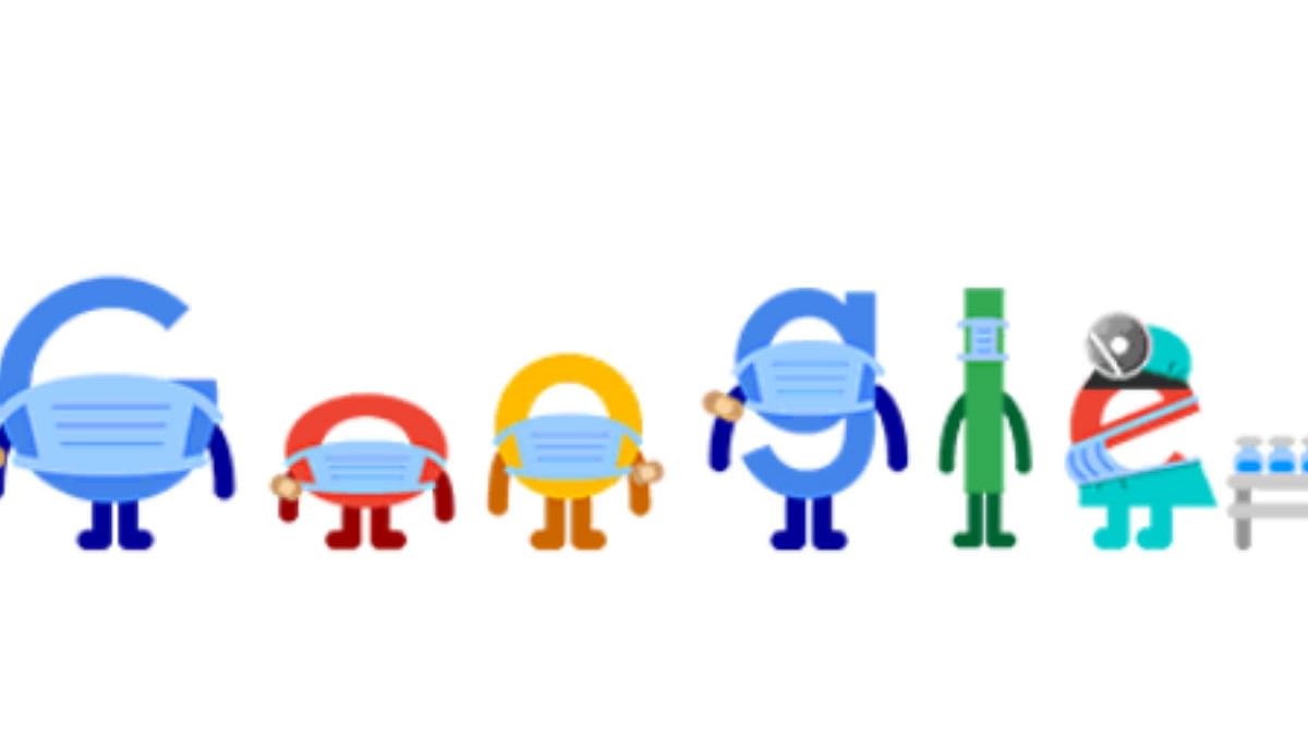 'Get vaccinated. wear a mask. save lives': Mask-clad Google Doodle tells netizens to stay safe from COVID-19