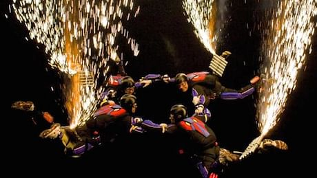 Watch: Skydivers become human fireworks in this record-breaking display