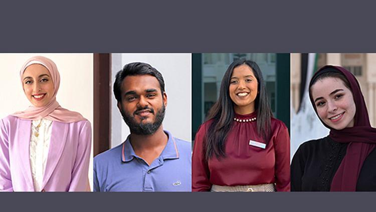4 brilliant students awarded Sheikh Khalifa Scholarship at American University of Sharjah