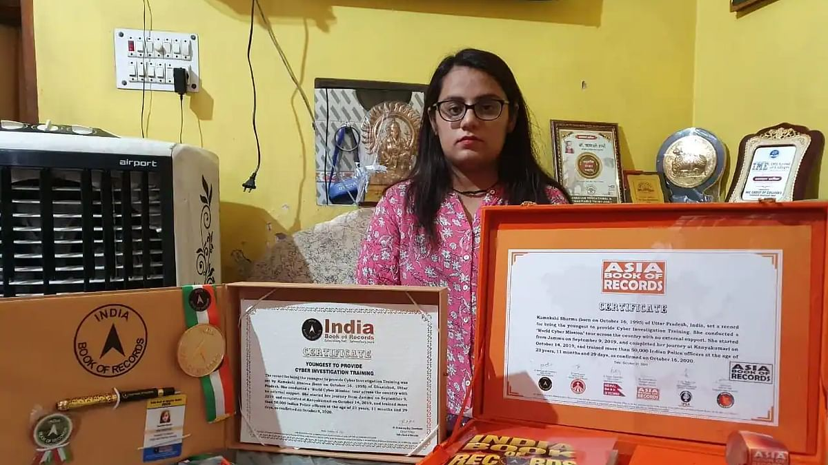 Kamakshi Sharma enters 'World Book of Records' for making people aware of cybercrime & training 50,000 police personnel