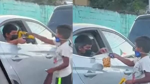 Watch: Heartwarming! Little boy gives his toys to child on street, receives snacks as gesture of thanks