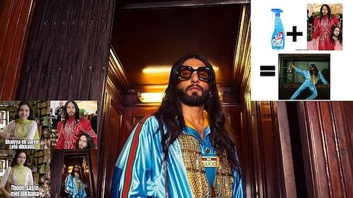 Desi Jared Leto? Ranveer Singh's Gucci photoshoot look has fashion police stopping by for memes