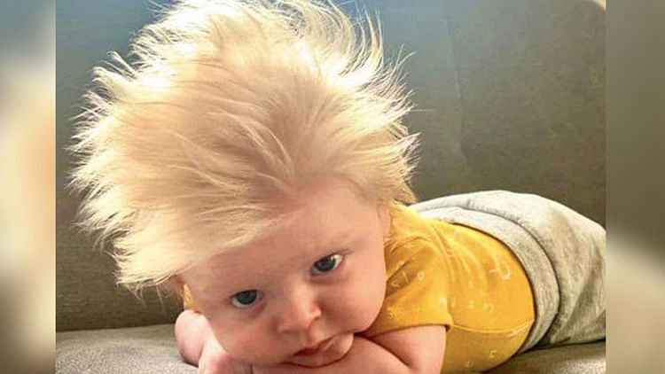 3-month-old baby with mop of blond hair like Boris Johnson is the new Internet sensation