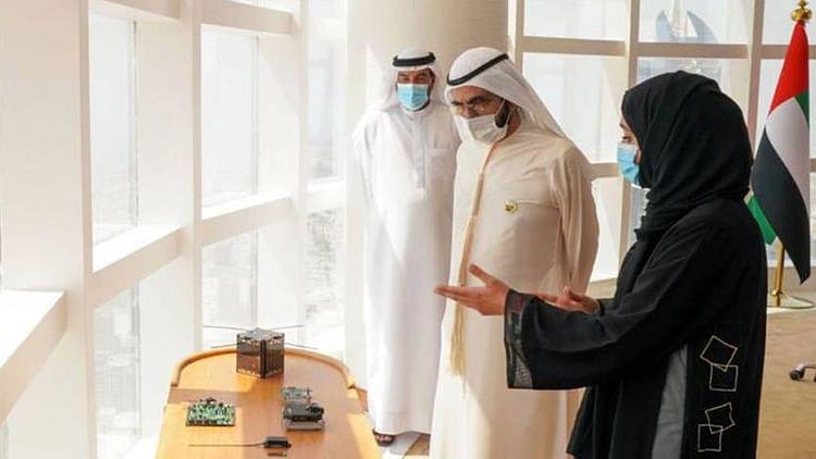 Mohammed Bin Rashid announces the successful launch of the Emirati satellite Ghalib