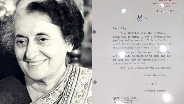 'I don't use perfumes and am cut off from 'chic' world': Indira Gandhi's letter to JRD Tata goes viral