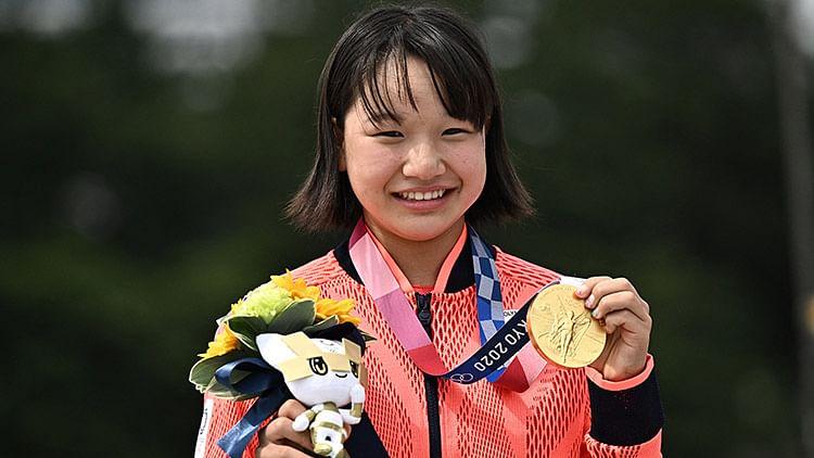 13-year-old Japanese teen wonder Momiji Nishiya bags gold at Tokyo Olympics