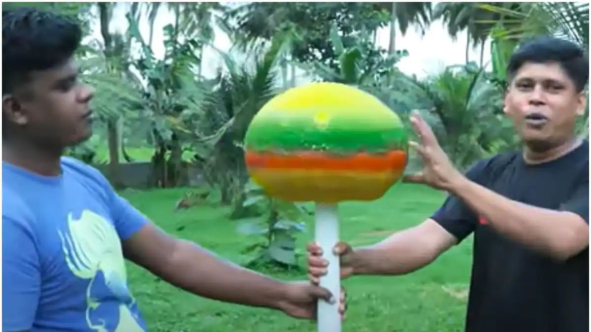 Watch: Kerala YouTubers make the world's biggest lollipop weighing 25 kg, showcase entire process