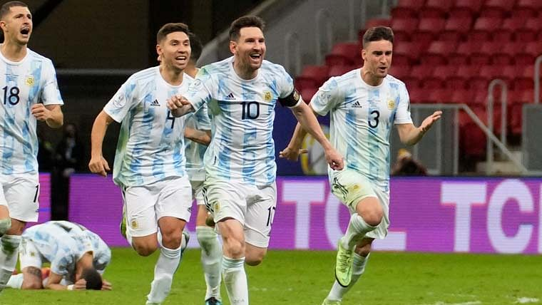 Copa America: Argentina beat Colombia on penalties, to face Brazil in final