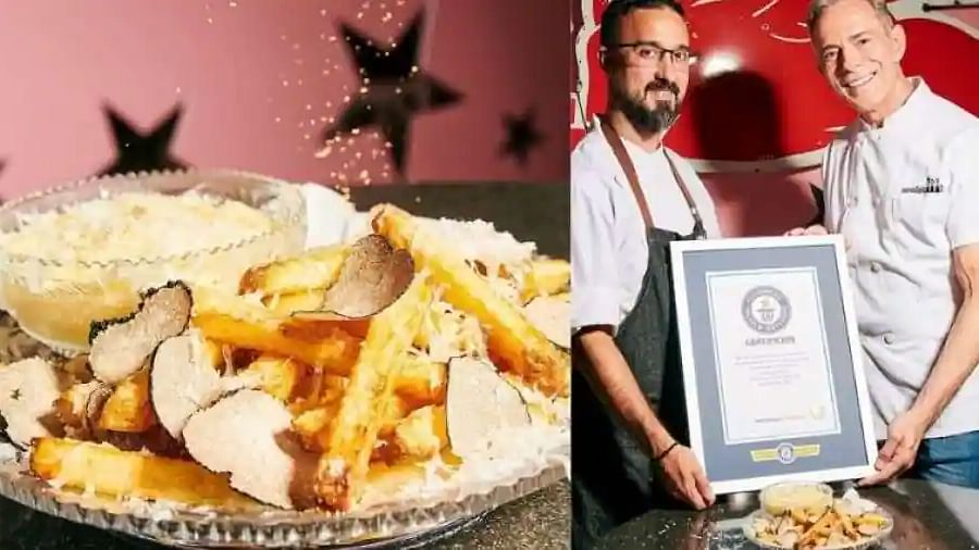This NYC restaurant serves the world's most expensive gold garnished French fries