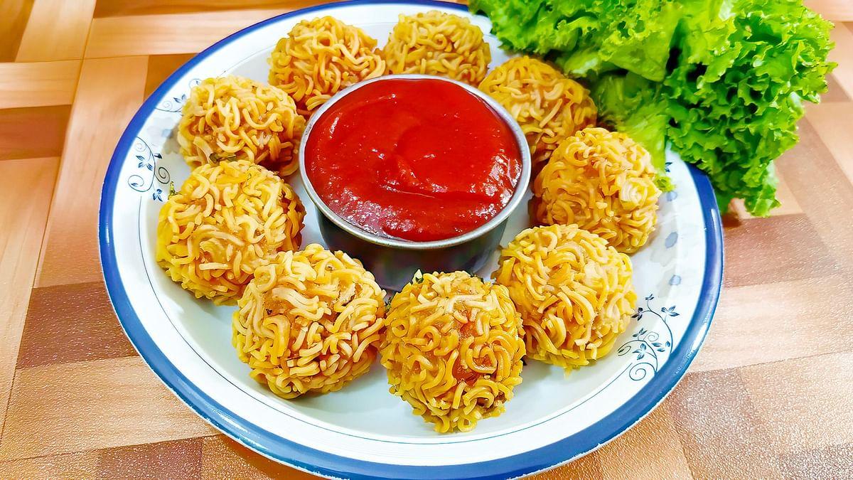 Easy and Simple Paneer Maggi Crispy Balls recipe