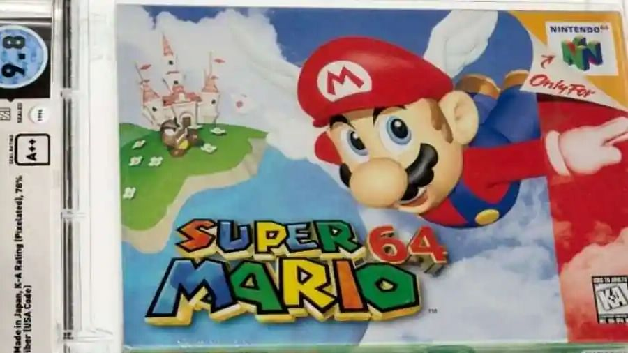 Super Mario 64 from 1996 is now the most expensive game ever!