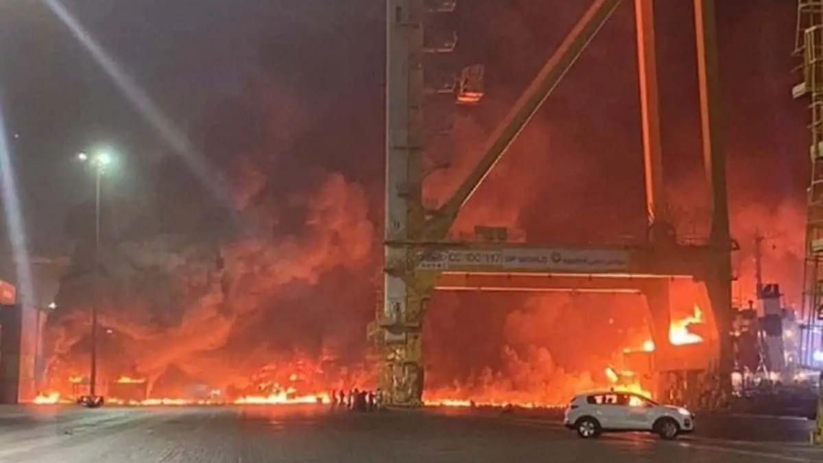 Watch: Huge explosion rocks Dubai's Jebel Ali Port