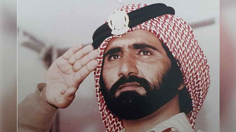 Sheikh Mohammed shares picture of him in military uniform, says 'UAE first, last and always'