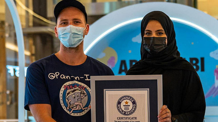 Abu Dhabi enters Guinness Book of Records with 1001 ice cream flavours
