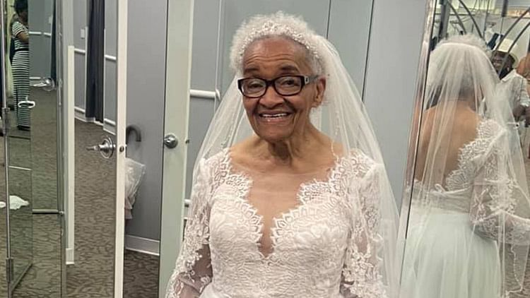 Woman, 94, wears wedding dress for the first time as black people weren't allowed to buy dresses in 50s US