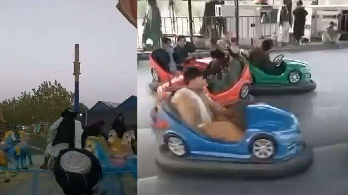 Watch: Taliban fighters enjoy rides in amusement parks after capturing Kabul