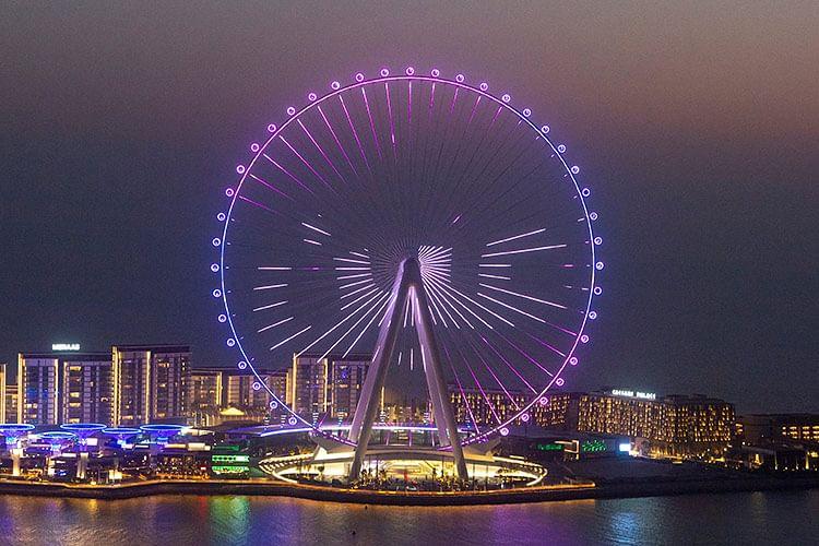 Ain Dubai, the world largest entertainment Ferris wheel to open on Oct. 21