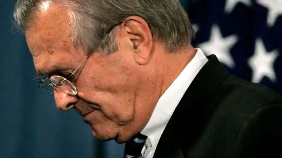 Donald Rumsfeld, architect of war in Afghanistan, is laid to rest