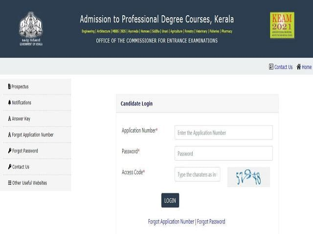 KEAM 2021: Kerala Entrance Exam result announced