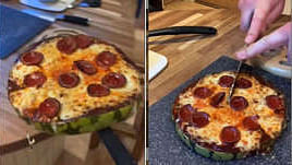 Man makes watermelon pizza in viral video. Dominos Australia tries the recipe