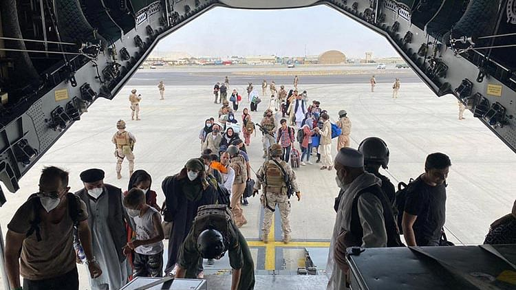 Afghan woman gives birth on US military flight