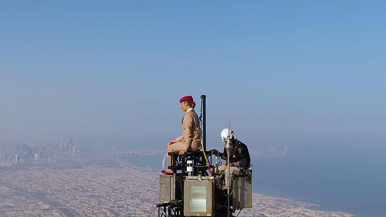 Behind the scenes of Emirates' bold Burj Khalifa stunt with Nicole Smith-Ludvik