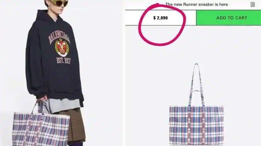 Viral: Internet is calling this Balenciaga shopper bag worth 1 lakh a desi thaila, here's why