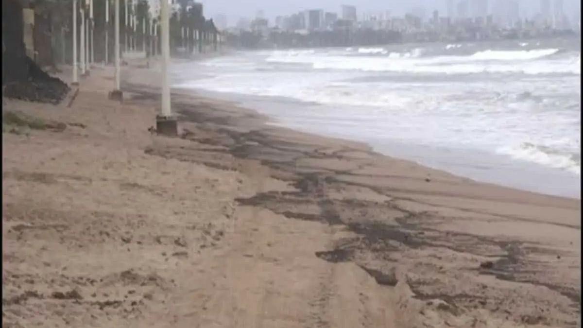 Mumbai: Sand at Juhu Beach turns black following oil spill