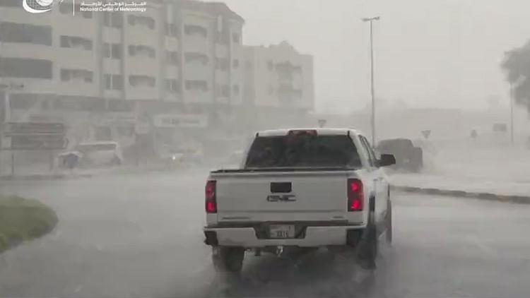 Heavy rain witnessed in Sharjah, Ajman and Umm Al Quwain, Dubai records 47.3°C