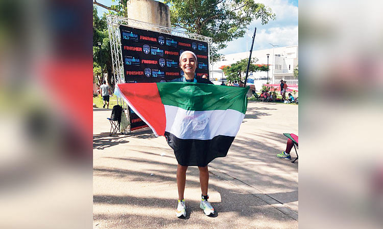 Hana Al Nabulsi poses for a photo after the race.