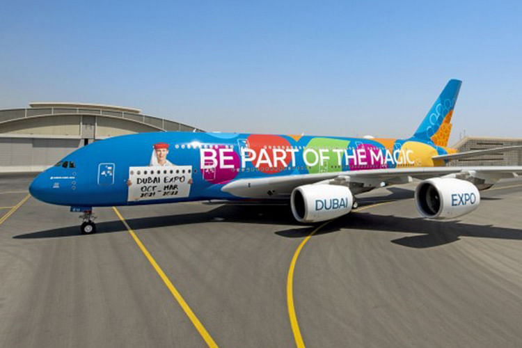 Emirates unveils its first-ever full aircraft Expo 2020 livery