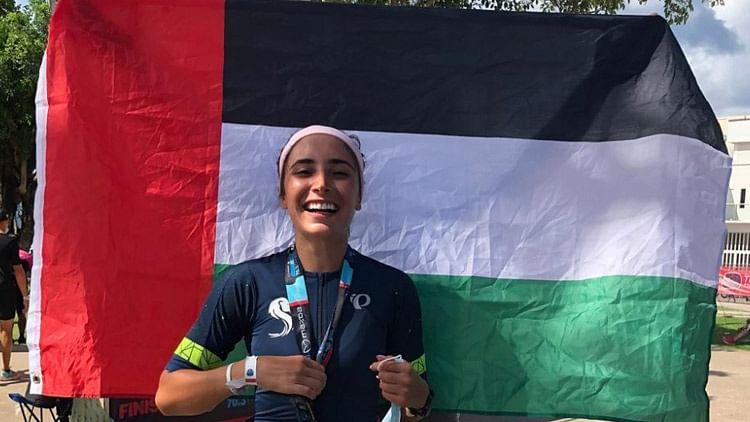 Youngest Emirati athlete Hana Al Nabulsi completes Mexico's 113km Ironman triathlon