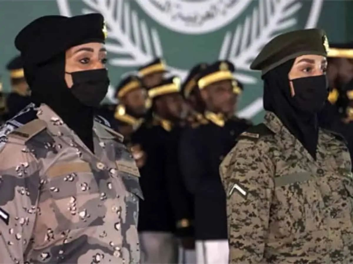 Saudi Arabia national day: In a first, women partake in military parade