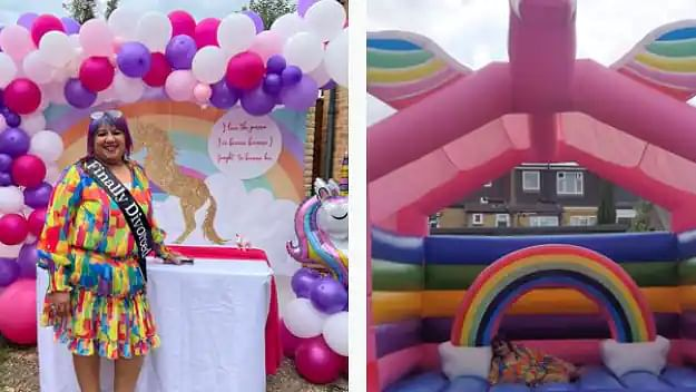 45-year-old woman throws colourful divorce party for herself after ending 17-year-old marriage