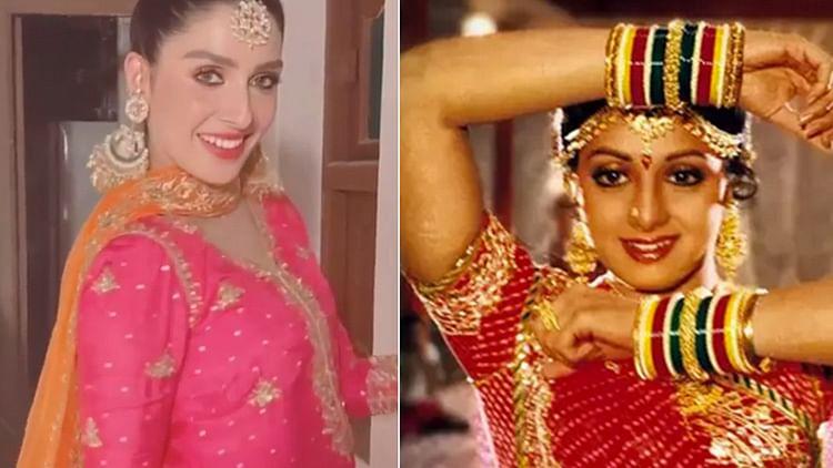 Pakistani star Ayeza Khan wins hearts as she recreates hit Sridevi song