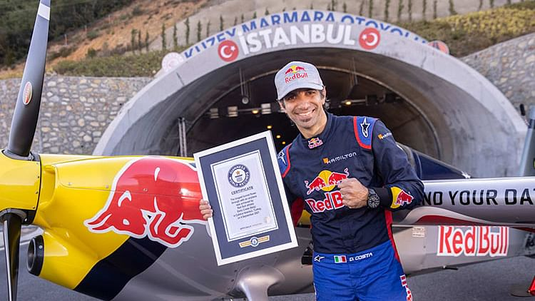 Red Bull stunt pilot Dario becomes first person to fly a plane through tunnels