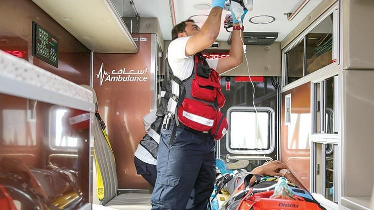 Dubai Air Wing ambulance saves man's life