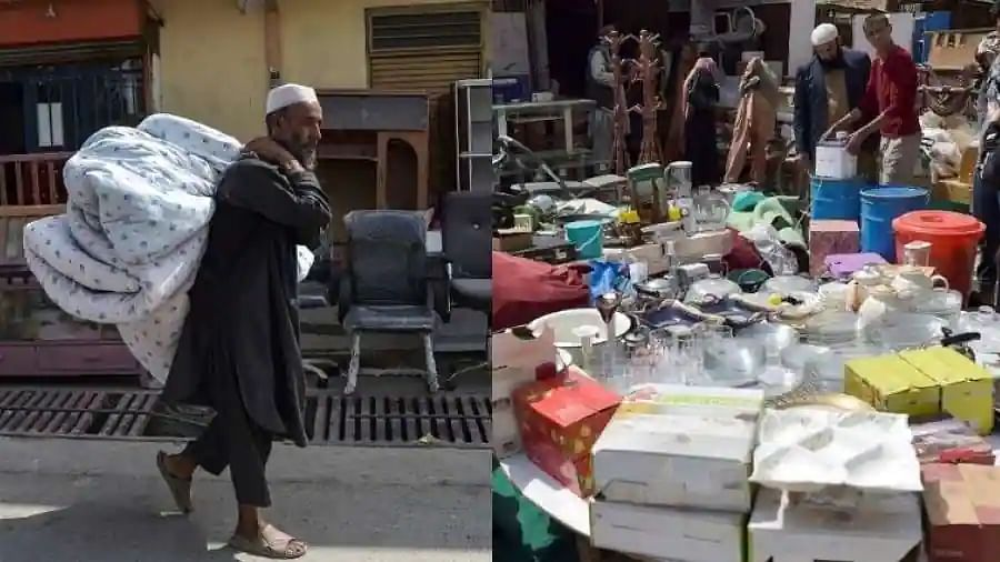 Amid cash crunch, fleeing Afghans sell possessions at Kabul's busy bazaars