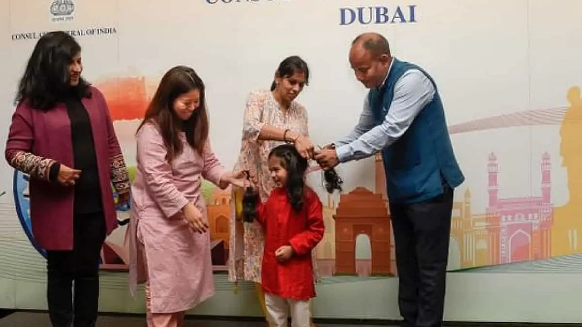 UAE: 3-year-old joins 20 Indian expats for hair donation drive